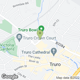 Map of HARDY CARPETS in Truro, cornwall