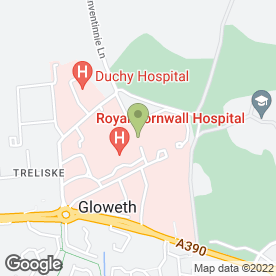 Map of Chlamydia Screening Services in Treliske, Truro, cornwall