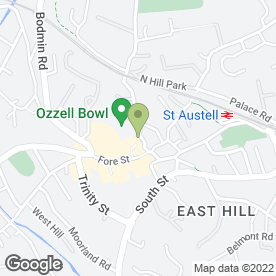Map of MANOR HOUSE DENTAL SURGERY in St. Austell, cornwall