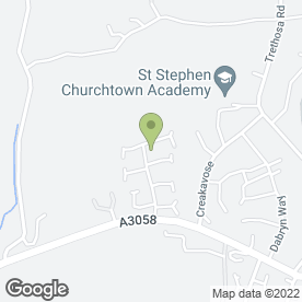 Map of Progas Heating Services in St. Stephen, St. Austell, cornwall