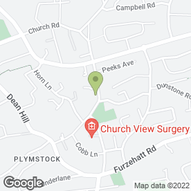 Map of PLYMSTOCK INN in Plymstock, Plymouth, devon