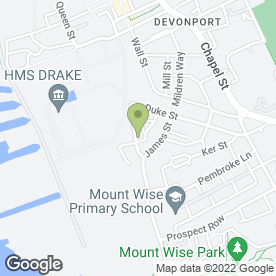Map of Christopher Jefferis PVCu Installation in Plymouth, devon