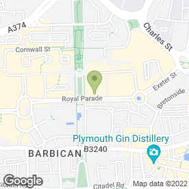 Map of Friary Mill Bakery Ltd in Plymouth, devon