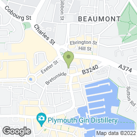 Map of Blue Bear Deli in Plymouth, devon