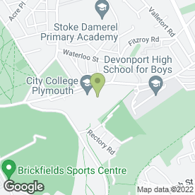 Map of City College Plymouth in Devonport, Plymouth, devon