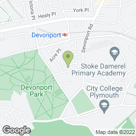 Map of 1st Choice Windscreens in Stoke, Plymouth, devon