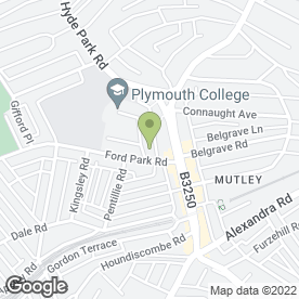 Map of Plymouth College in Plymouth, devon
