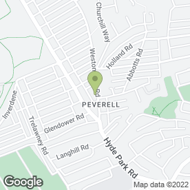 Map of PEVERELL GARAGE LTD in Peverell, Plymouth, devon
