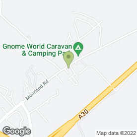 Map of Gnome World Caravan Sales in Indian Queens, St Columb, cornwall