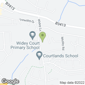 Map of Courtlands School in Crownhill, Plymouth, devon