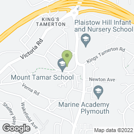 Map of Mount Tamar School in Higher St. Budeaux, Plymouth, devon