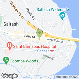 Map of Plymouth Wedding Hair in Saltash, cornwall
