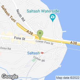 Map of Specsavers Hearing Centres in Saltash, cornwall