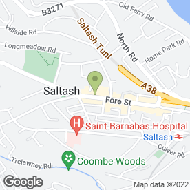 Map of Maitlands Estate Agents Ltd in Saltash, cornwall