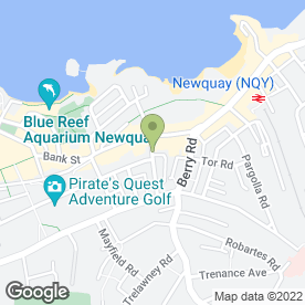 Map of Dowling Dodd Chartered Surveyors in Newquay, cornwall