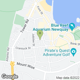 Map of Cornwall Cosmetic Laser Clinic in Newquay, cornwall
