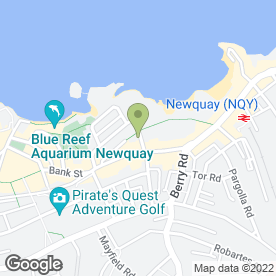 Map of Oceans Cafe in Newquay, cornwall