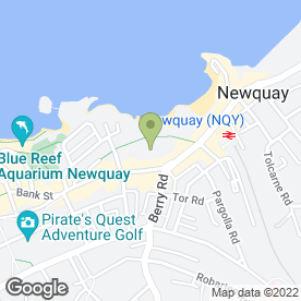 Map of HOTEL VICTORIA in Newquay, cornwall