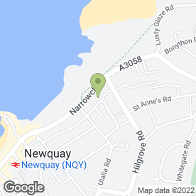 Map of Narrowcliff Hotel in Newquay, cornwall