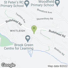 Map of Brook Green Centre for Learning in Whitleigh, Plymouth, devon
