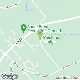 Map of Great Palstone Caravan Park in South Brent, devon