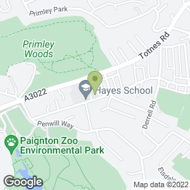 Map of Hayes School in Paignton, devon