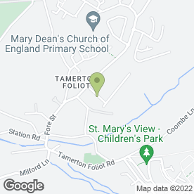 Map of Tamerton Surgery in Tamerton Foliot, Plymouth, devon