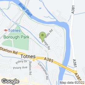 Map of Archant Weddings in Totnes, devon
