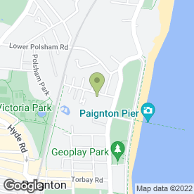 Map of Avis Rent A Car in Paignton, devon