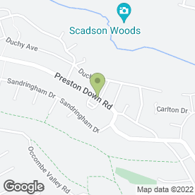 Map of Preston Down Road P.O in Preston, Paignton, devon