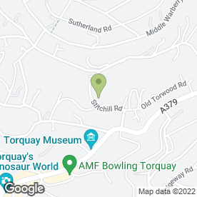Map of Wedding Pianist in Torquay, devon