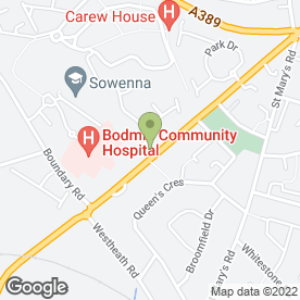 Map of Roy Vickers Builder & Carpenter in Bodmin, cornwall