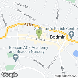 Map of Specsavers Hearing Centres in Bodmin, cornwall