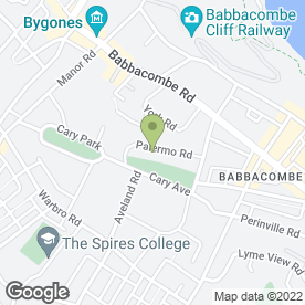 Map of TRECARN HOTEL in Babbacombe, Torquay, devon