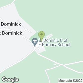 Map of St. Dominic C of E School in Saltash, cornwall