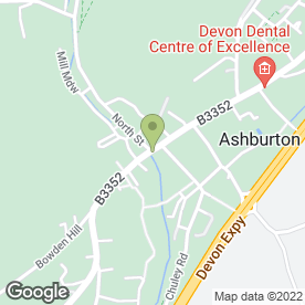 Map of Lloyds Bank Business in Ashburton, Newton Abbot, devon