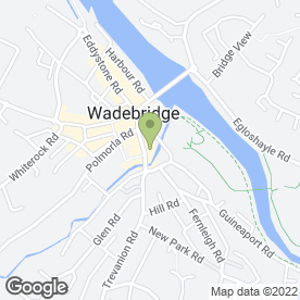 Map of TRUDGEON HALLING in Wadebridge, cornwall