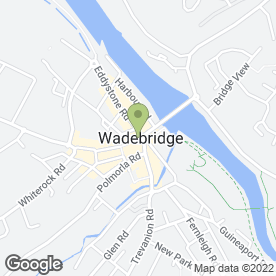 Map of HSBC Bank plc in Wadebridge, cornwall