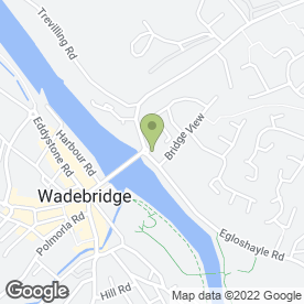 Map of Bridge End Garage in Wadebridge, cornwall