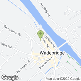 Map of Bridge Tyrehouse in Wadebridge, cornwall