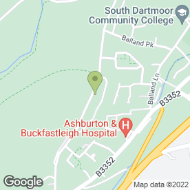 Map of Southhams Kitchen Fitting Service in Ashburton, Newton Abbot, devon