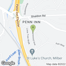 Map of Cosmetic Auto Repair Ltd in Newton Abbot, devon