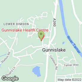 Map of Gunnislake Health Centre in Gunnislake, cornwall