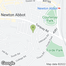 Map of Sue Gandy Counselling in Newton Abbot, devon
