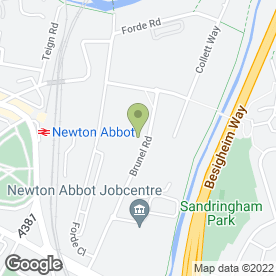 Map of Bennetts MOT Centre Newton - Abbott in Newton Abbot, devon