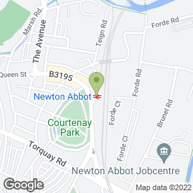 Map of Devon Counselling College in Newton Abbot, devon