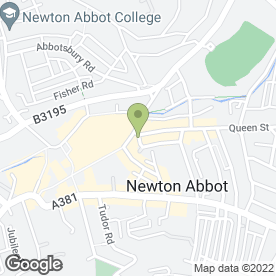Map of Associated Valuers in Newton Abbot, devon