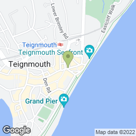 Map of South Pacific Bar in TEIGNMOUTH, devon