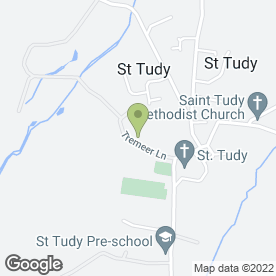 Map of Bridge Locks in St. Tudy, Bodmin, cornwall