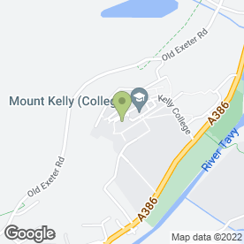 Map of Kelly College in Tavistock, devon